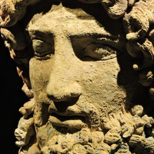 Scultura raffigurante il dio greco Ade, Museo Archeologico Regionale di Aidone